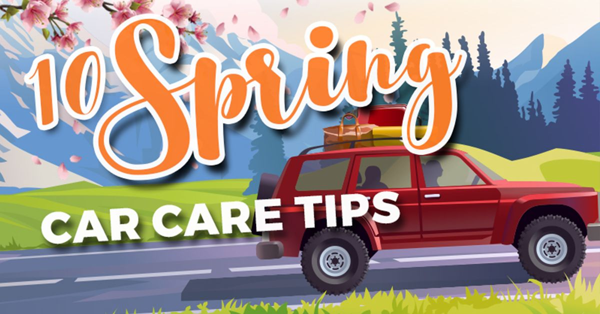 10 spring car care tips infographic